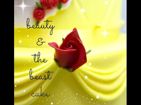 Beauty and the Beast Theme Cake