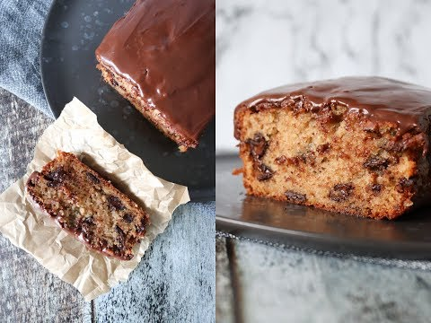 Moist Banana Loaf Cake With Chocolate And A Twist Of Cinnamon - By One Kitchen