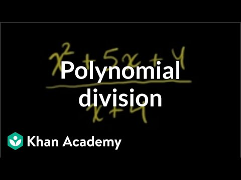 Polynomial division | Polynomial and rational functions | Algebra II | Khan Academy