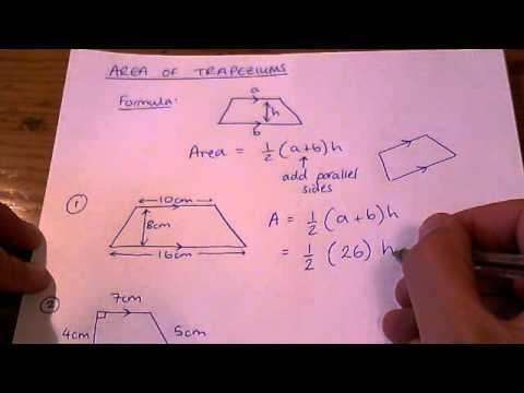How to - calculate the area of a trapezium