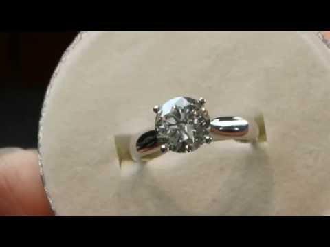 1.6 carat Diamond engagement ring