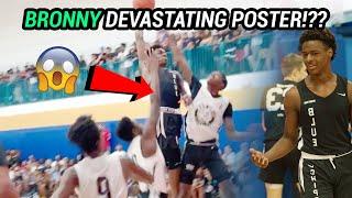 Bronny James FLIES For INSANE POSTER!? 7'0 Jah Jackson Is Legit UNSTOPPABLE 😱
