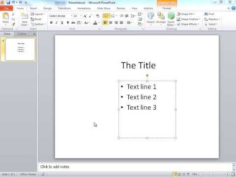 PowerPoint tip, one line at a time