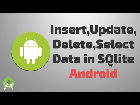 insert update delete select data in sqlite android