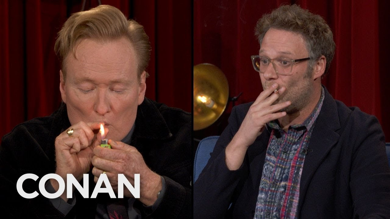 Conan Takes A Hit Of Seth Rogen's Joint  - CONAN on TBS