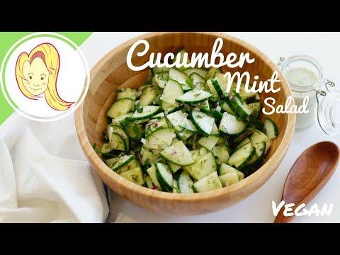 Cucumber Mint Salad with Lemon Mint Dressing (Vegan)