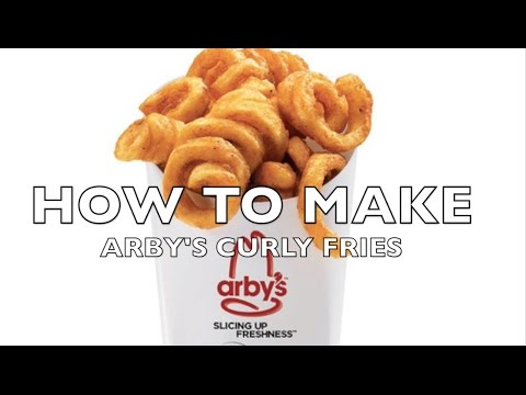 HOW TO MAKE Arby's Curly Fries SHORT | HellthyJunkFood