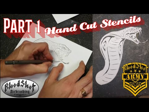How to Airbrush a Reaper and Cobra on a Motorcycle GasTank. Video 1- From Concept to Stencil