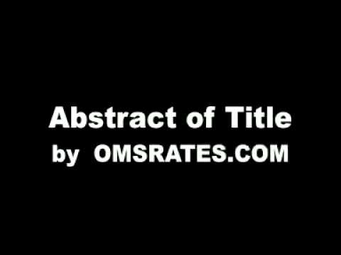 Abstract of Title Definition