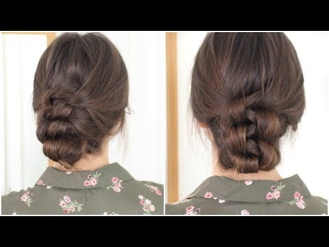 Knotted Updo   Quick & Easy No Heat Hair Tutorial