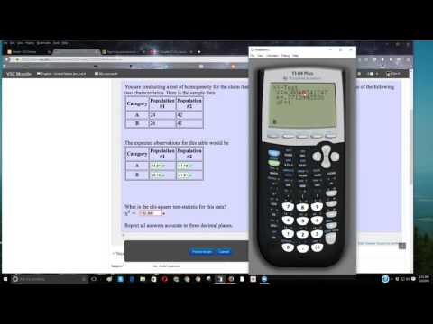 Using a TI-84 For Finding A Chi-Square Test Statistic