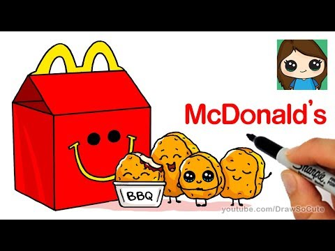 How to Draw McDonald's Happy Meal Easy | Cute Food