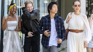 Angelina Jolie Spends Labor Day With Her Kids After Admitting She Cried With Maddox Left For College