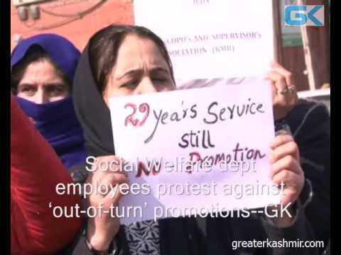 Social Welfare dept employees protest against 'out-of-turn' promotions