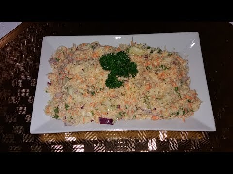 Homemade Coleslaw [ No food processor ]