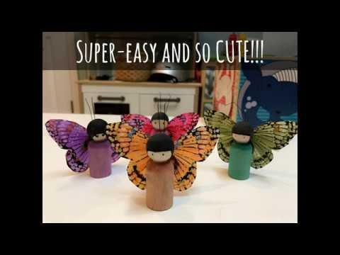 DIY: Butterfly Peg Dolls
