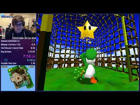 Super Mario 64 DS 80 Star Speedrun in 1:21:28
