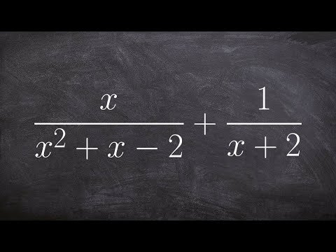 Math Lesson for adding two rational expressions by determining a common denominator