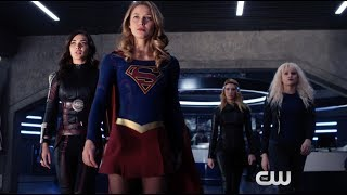 Supergirl 3x11 -- Kara, Saturn Girl, Livewire and Psi Team Up