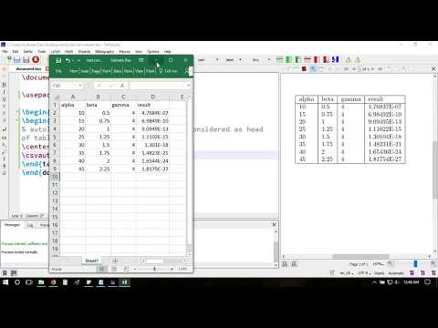 Excel to Latex  - import data table directly from csv file with csvsimple