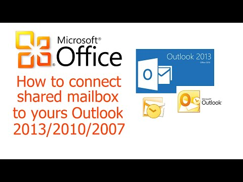 Office 365, Outlook, Solution 1, How to connect shared mailbox to Outlook 2013, 2010, 2007. Teamwork