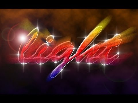 Light Text Effect - Photoshop Tutorial