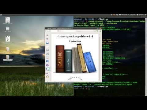 eBook-Convert - Convert eBooks Via Terminal - Ubuntu 10.10
