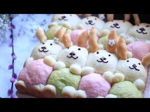 Easter Roll Bread /Bunny Yogurt Soft Buns / Hasen brötchen /ขนมปังโยเกิร์ต/ Nattharinkitchen