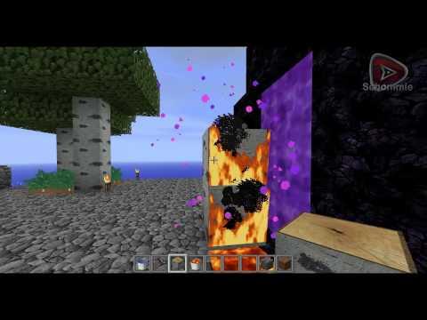 Minecraft Skyblock Tutorials : Nether Tor Aktvieren ohne feuerzeug (DEUTSCH)
