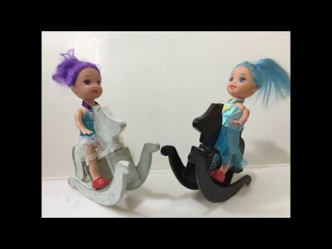 How to Make a Rocking Horse for Doll!! DIY