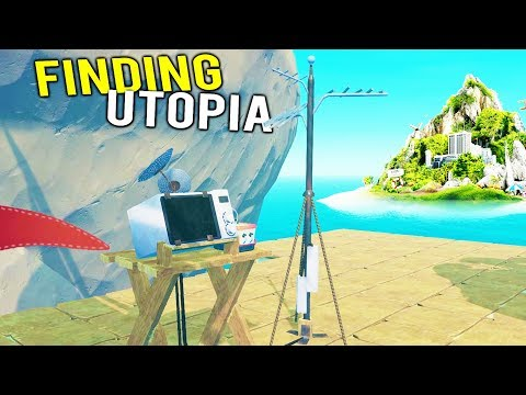 FINAL RADIO ANTENNA BUILT TO FIND THE SECRET UTOPIA ISLAND! - Raft Multiplayer Gameplay 2018