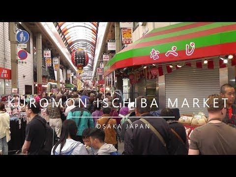 Japan, Osaka - Kuromon Ischiba  Market (2018)