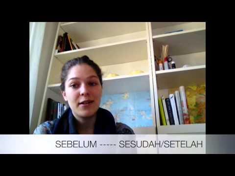 Indonesiska för svenskar 8 (när man talar om tiden)