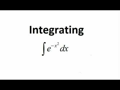 Integrating e^(-x^2)  The Gaussian Integral