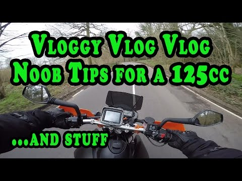Noob Tips & Starting on a 125cc motorcycle