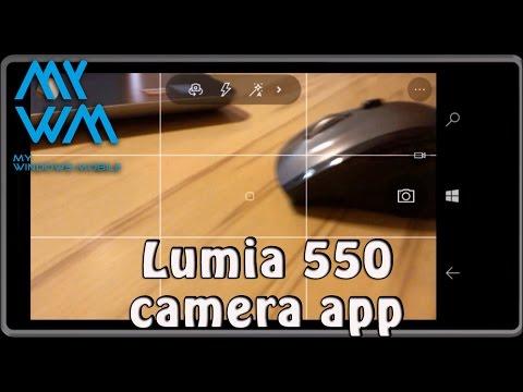 Lumia 550 camera application