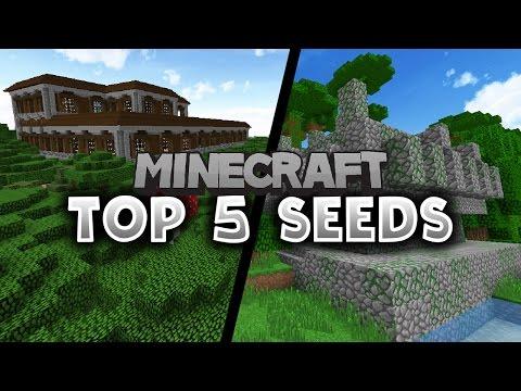 TOP 5 MINECRAFT SEEDS! - Minecraft 1.11.2 - Mansion and Village Seeds!