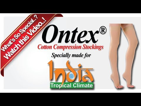 Ontex Cotton Compression Stockings for Varicose Veins - Specially made for Indian Tropical Climate