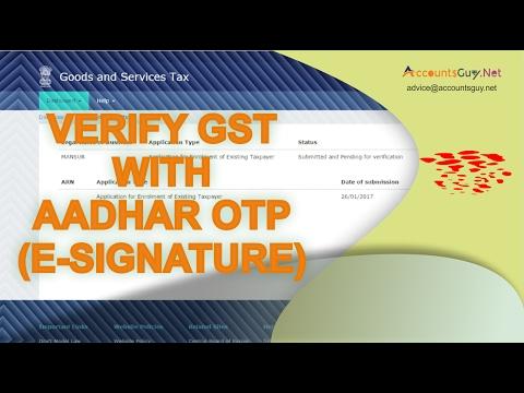 GST Registration Enrolment in India - Part 3 (Aadhar Sign)