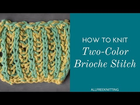 How to Knit Two-Color Brioche Stitch