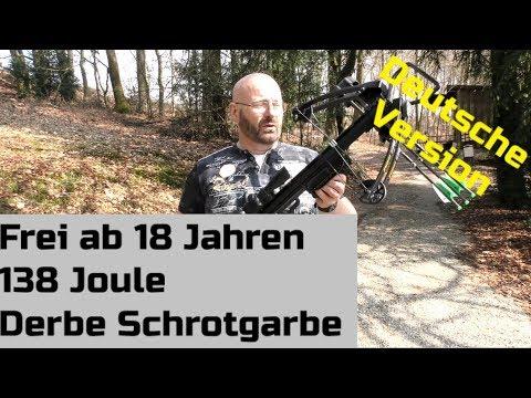 Freies Schrotgewehr: 138 Joule mit Bleischrot oder Bolzen!