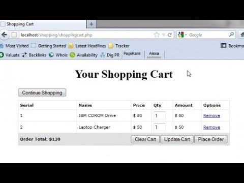 PHP Shopping Cart in Hindi -Chapter 9