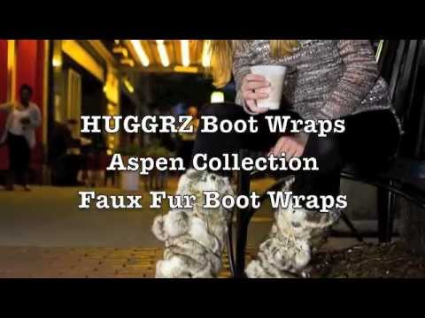 HUGGRZ faux fur boot wraps are furry boot covers for your favorite boots