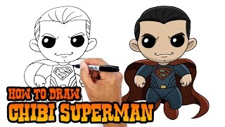 How To Draw Superman Chibi Dawn Of Justice