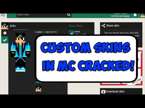 HOW TO HAVE YOUR OWN SKIN IN MINECRAFT CRACKED![CRACKED LAUNCHER][TLAUNCHER SKIN](2017)