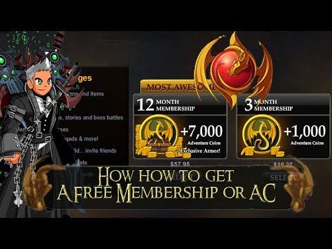 AQW How to get Free Membership 2018