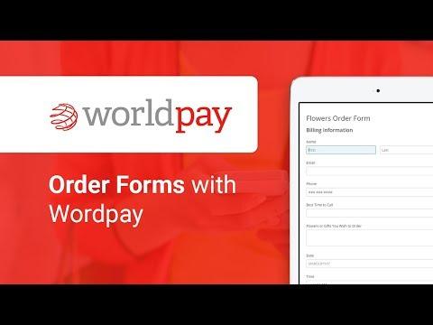 Online Order Form with WorldPay integration | 123FormBuilder