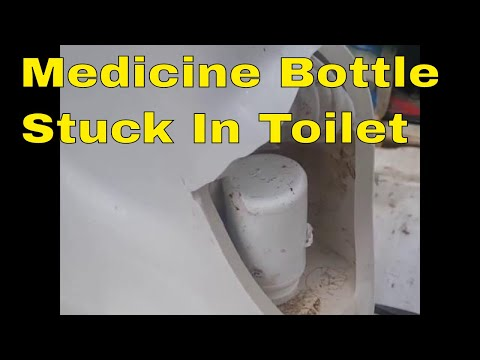 . Pill Bottle Stuck In Toilet