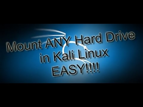 Mount any Disk Partiton in Kali Linux