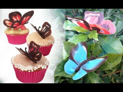 Chocolate Butterfly Decorations Tutorial HOW TO COOK THAT Ann Reardon